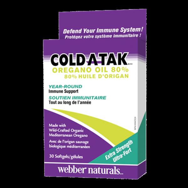 Cold-A-Tak-Oregano-Oil-Extra-Strength-80%-30-Softgels