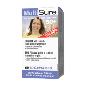 MultiSure®_for women_50+_in complex_of_35_vitamins_and_minerals!