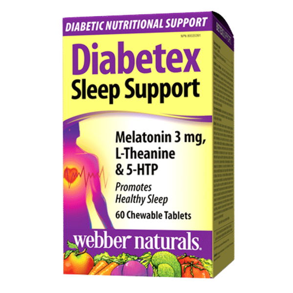 diabetex-sleep-support-melatonin-3-mg-l-theanine-5-htp-60-chewable-tablets